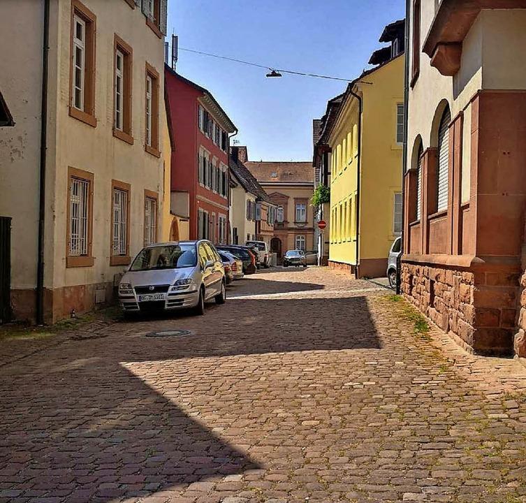 Die Brestenbergstraße im aktuellen Zus...erwaltung einen neuen Belag erhalten.   | Foto: Foto/Animation: Stadt Lahr