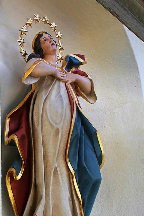 Der Eremit Paulus von Theben, eine  Ma...e der Giersbergkapelle in Kirchzarten.  | Foto: Erich Krieger