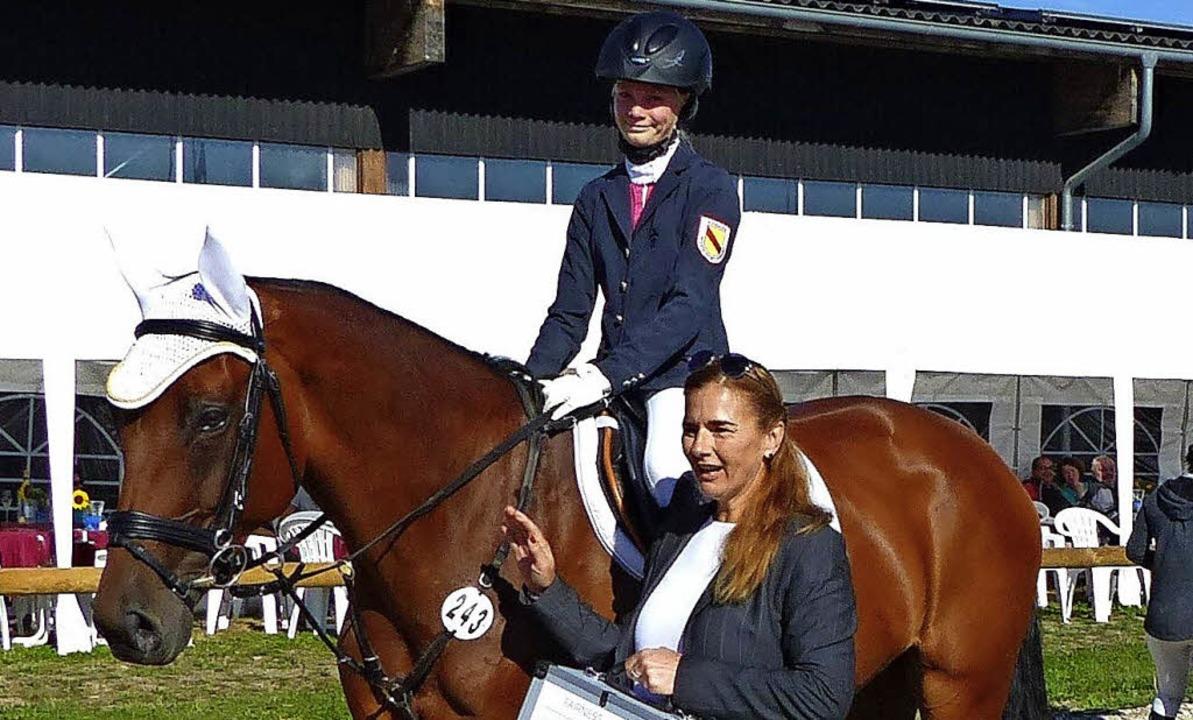 Der Fairnesspreis ging an Sophia Pilar...ändereck mit ihrem Pferd Helly Berry.   | Foto: Wagner