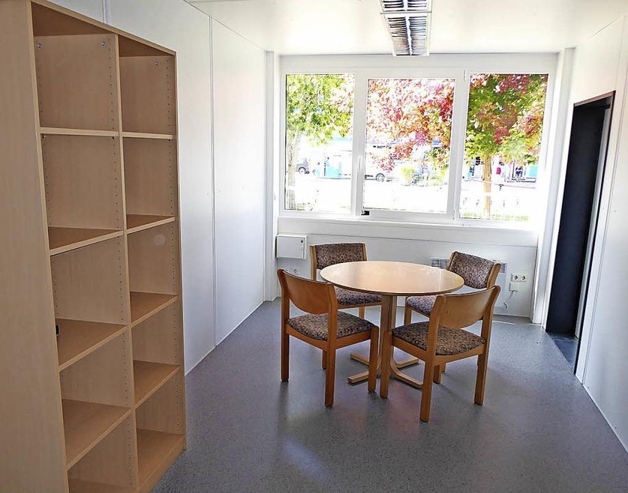 Lehrerzimmer in einem Hebelschulraummodul  | Foto: Peter Stellmach