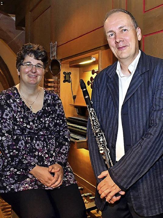 Susanne Moßmann und Christoph Wirz vor ihrem Auftritt   | Foto: Wolfgang Künstle