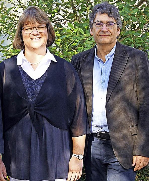 Rektorin Rotraut Neubauer und Konrekto...hlüchttal-Schule Ühlingen-Birkendorf.   | Foto: Werner Steinhart