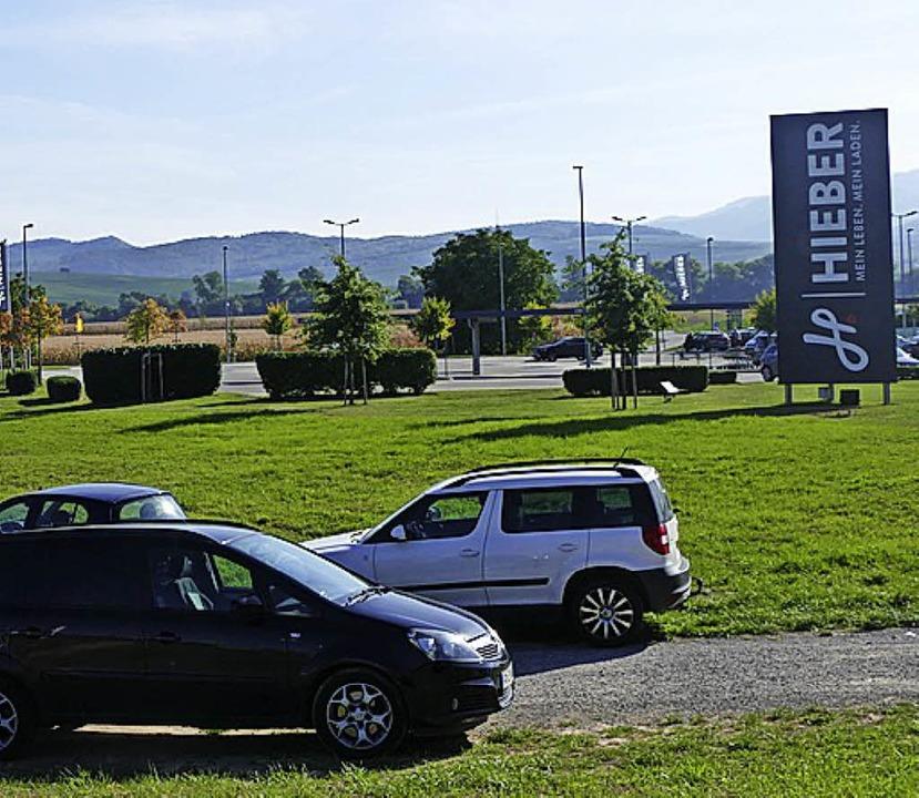 Der Parkplatz soll auf die Wiese ausgeweitet werden.   | Foto: Frank Schoch