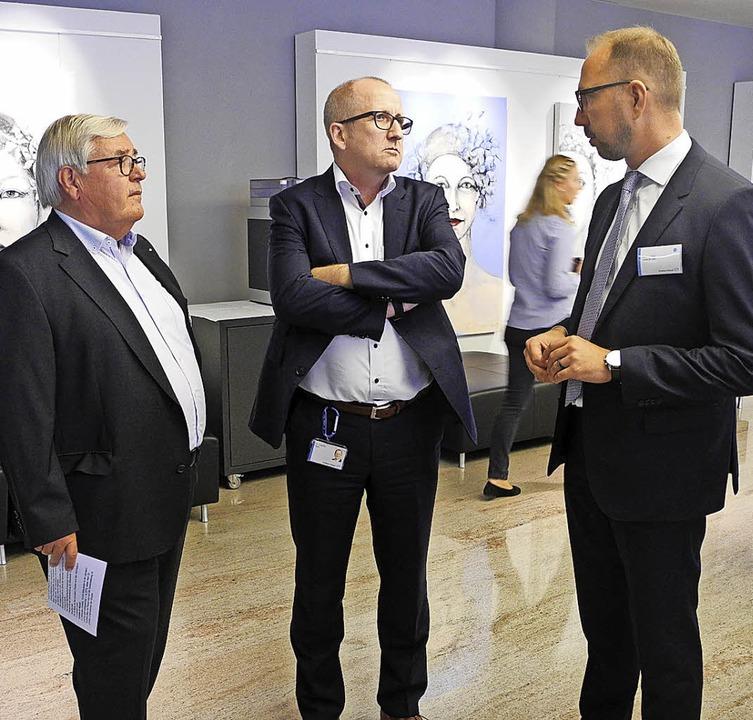 Zu Besuch bei E+H: Hans Joachim Friedr...nke (Chef der Arbeitsagentur Lörrach)   | Foto: verband