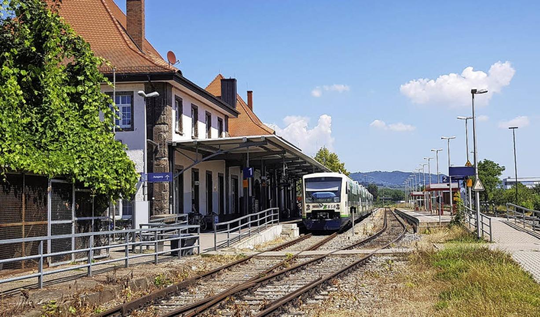 Endstation Breisach: Die Regio-Gesells...eiburg kommenden Bahnlinie bis Colmar.  | Foto: Sebastian Wolfrum