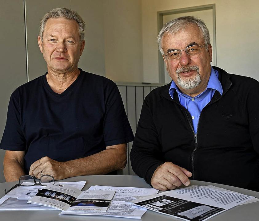 Lutz Knakrügge und Peter Focke von Fairnetzt   | Foto: Barbara Ruda