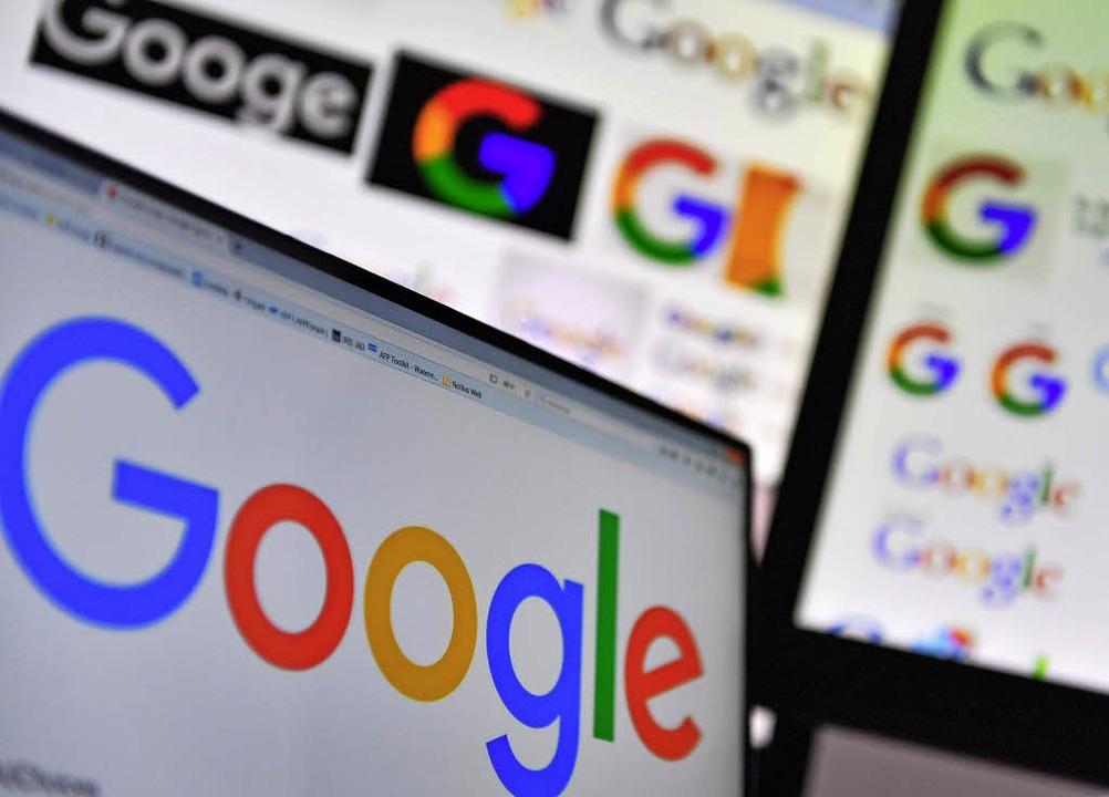 Internetmonopolisten wie Google wehren...n gegen eine Reform des Urheberrechts.  | Foto: AFP