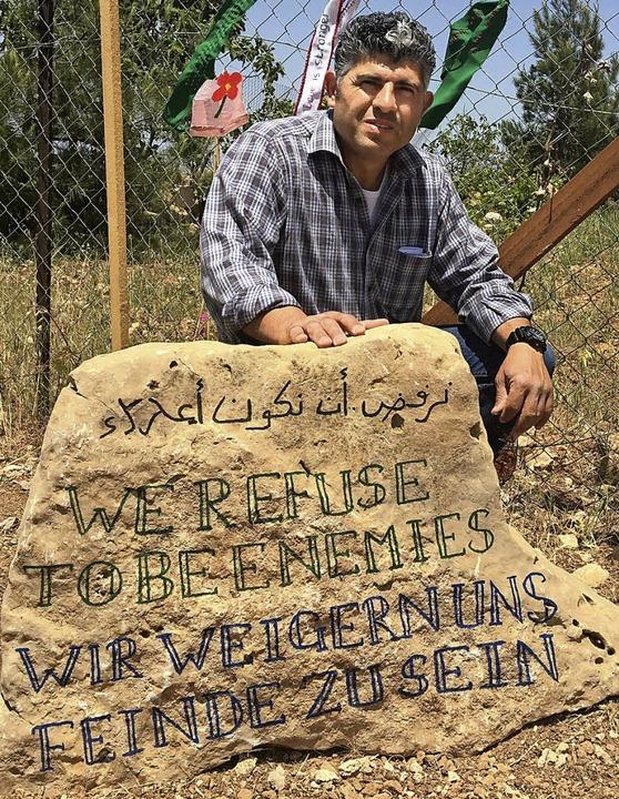 Daoud Nassar weigert sich in Feindeska...raelischen Truppen besetzten Palästina  | Foto: Markus Zimmermann
