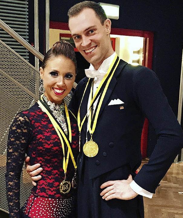 Erfolgreiches Tanzpaar: Janina Huuck und Florian Siegwolf     Foto: privat