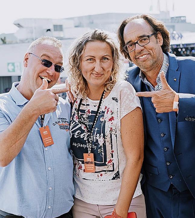 Das Gewinnerpaar aus Elzach, Christian...median Christoph Sonntag (von links).   | Foto: Swr