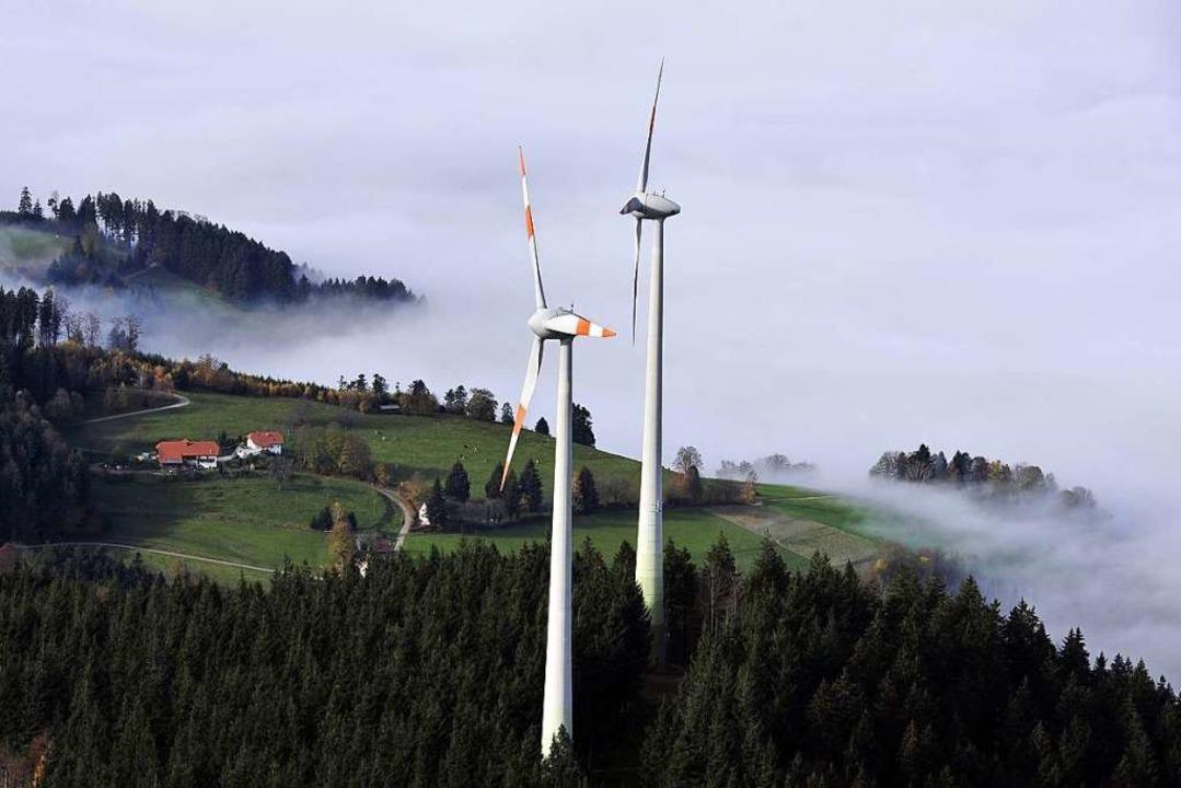 Auf der Holzschlägermatte stehen bereits Windräder.  | Foto: Thomas Kunz
