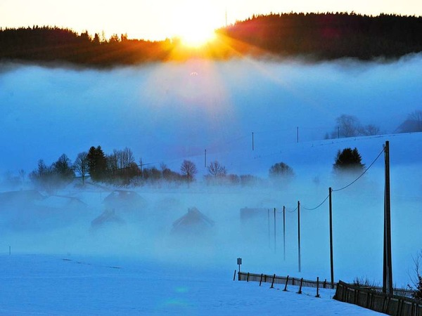 Sonnenuntergang am Heiligen Abend (bei Breitnau)