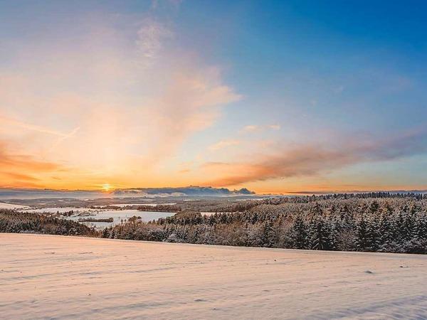 """""""Eiseswärme"""" - wenn die Abendsonne das Weiß erwärmt (Oberalpfen)"""