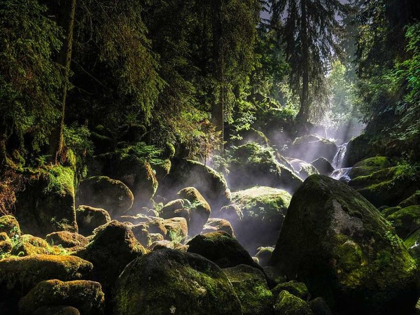 Nach dem Regen kommt die Sonne (Triberger Wasserfälle)