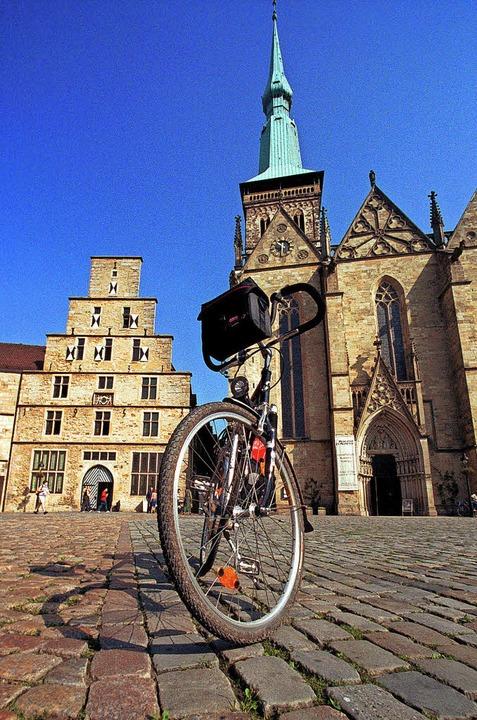 Angekommen: Die Rundtour endet in Osnabrück.Foto: Münsterland e.V.  | Foto: Münsterland e. V.