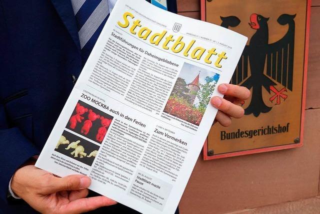 Amtsblätter dürfen Zeitungen keine Konkurrenz machen