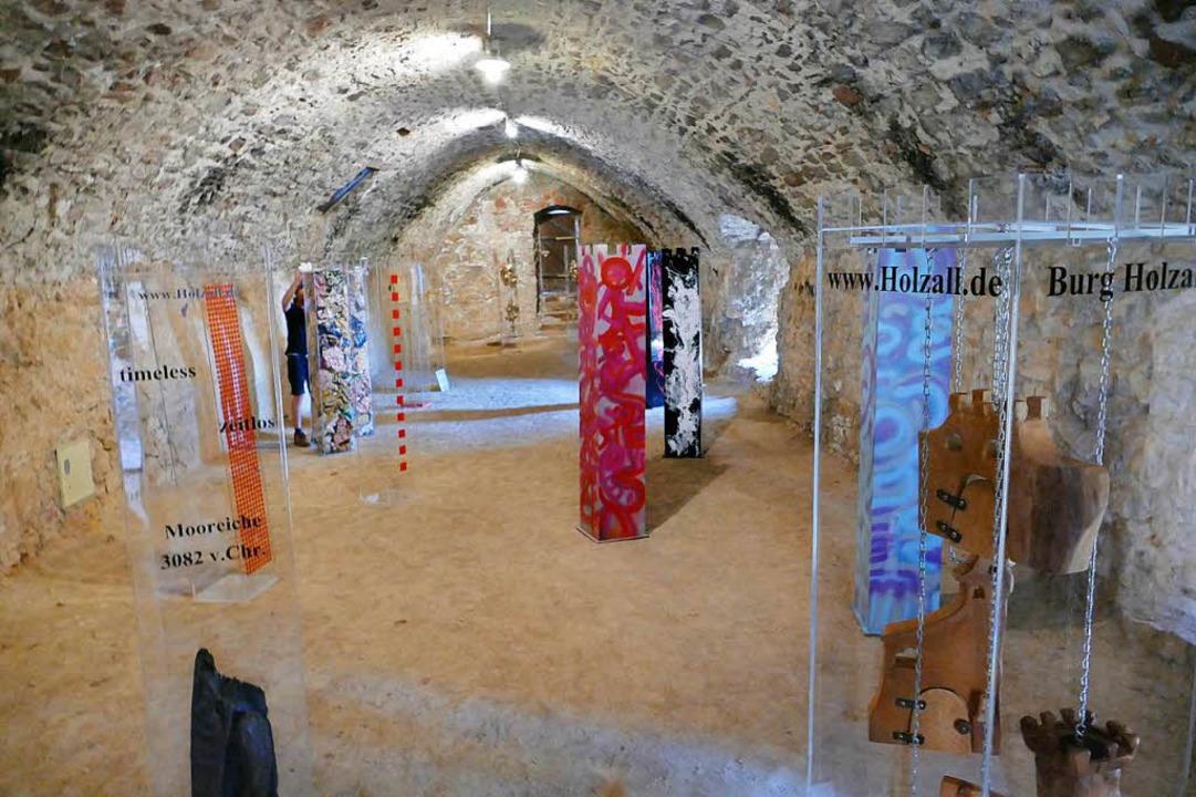 Stelenausstellung in der Burg  | Foto: Peter Gerigk