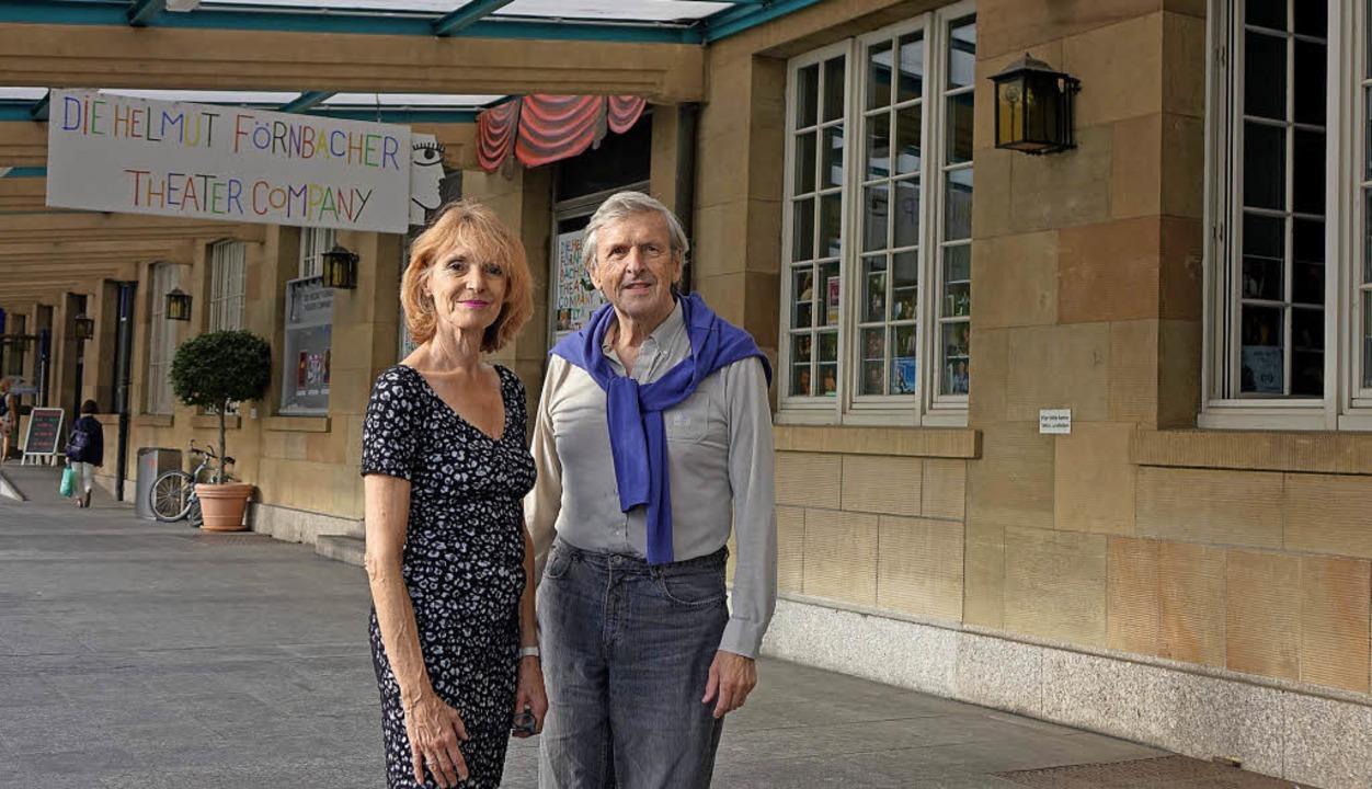 Helmut Förnbacher und seine Frau Krist... der Theaterhalle im Badischen Bahnhof  | Foto: Roswitha Frey