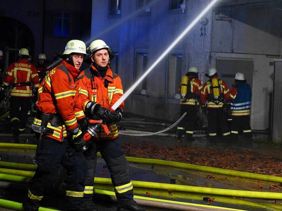 Großbrand in Teningen  | Foto: Aribert Rüssel