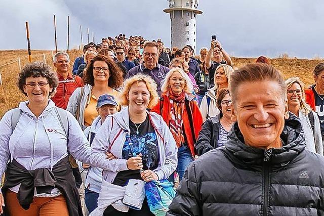 Warum die Band Pur am Wochenende mit 250 Fans im Schwarzwald wandern war
