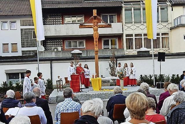 Missionskreuz als Willkommenssymbol