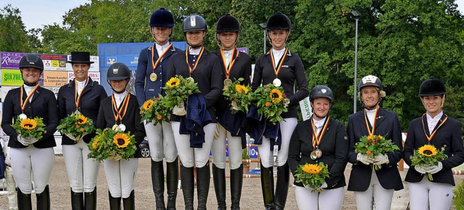 Medaillengewinner der Ringmeisterschaften Oberrhein.  | Foto: Achim Keller