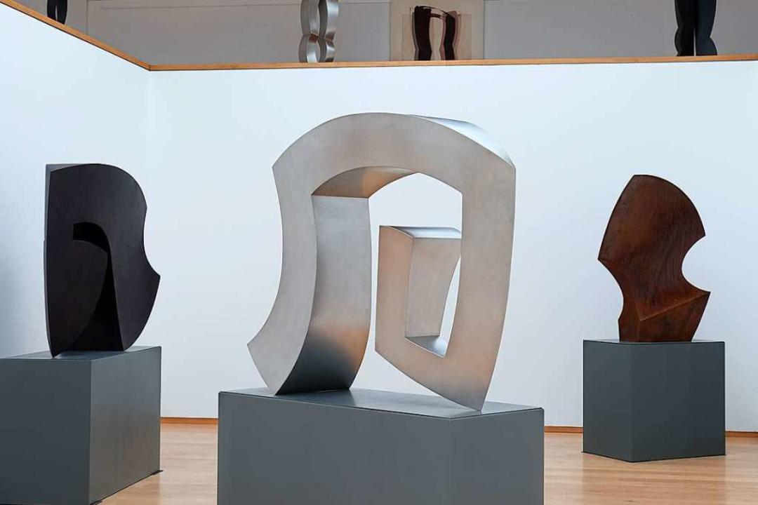 Die Skulpturenhalle mit Arbeiten von René Dantes  | Foto: Ingo Phleps