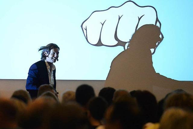 Carl Naughton beim BZ-Wissensforum 2018 in Freiburg