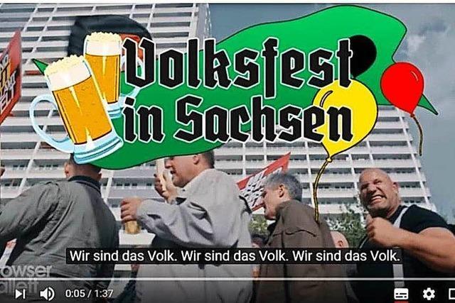 Volksfest in Sachsen: Aus einem Satire-Video wird bitterer Ernst