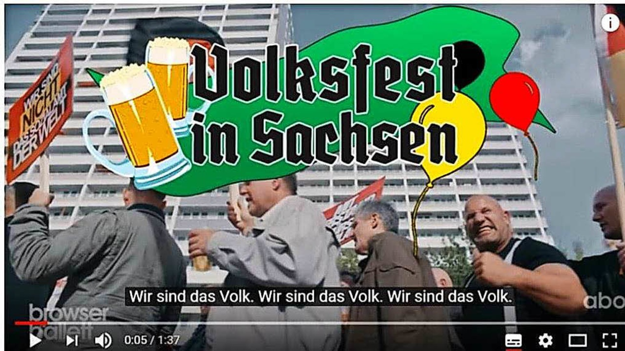 "Internetvideo: ""Volksfest in Sachsen""  