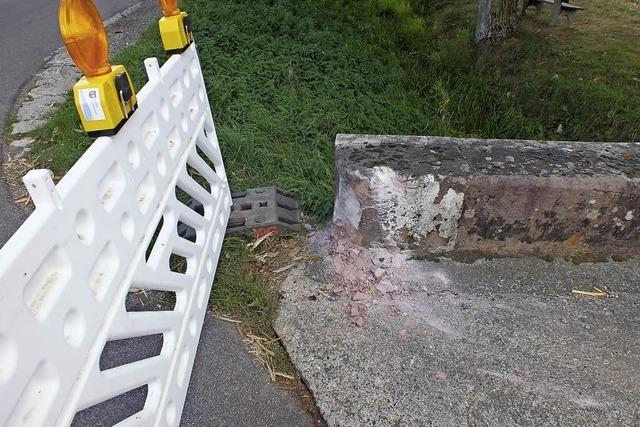 Schaden an der Brücke