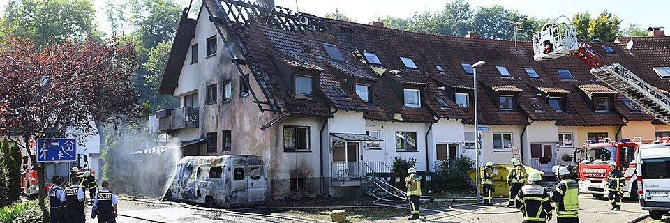 Bei einem Brand haben zwei Waltershofener Familie alles verloren