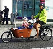 Mit Lastenrad statt Auto unterwegs