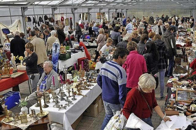 Wieder Flohmarkt in der Europa-Park-Gärtnerei