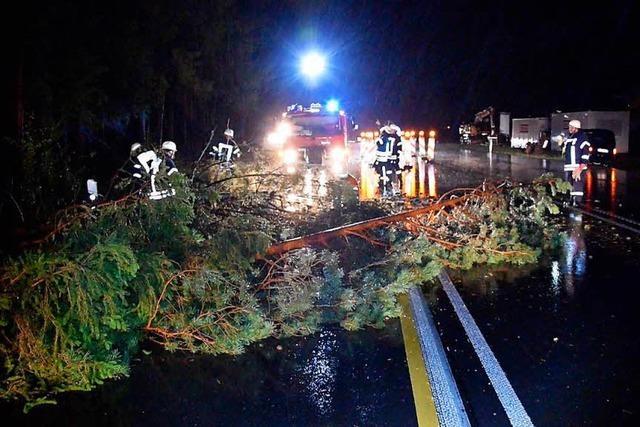 Sturm zieht über Baden-Württemberg: 11 Verletzte und große Schäden