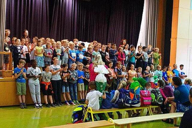 Sommerbergschule Buchenbach begrüßt ihre neuen Erstklässler