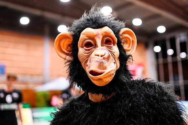Ich bin Bongo, das Maskottchen der Zweitliga-Volleyballer des FT 1844