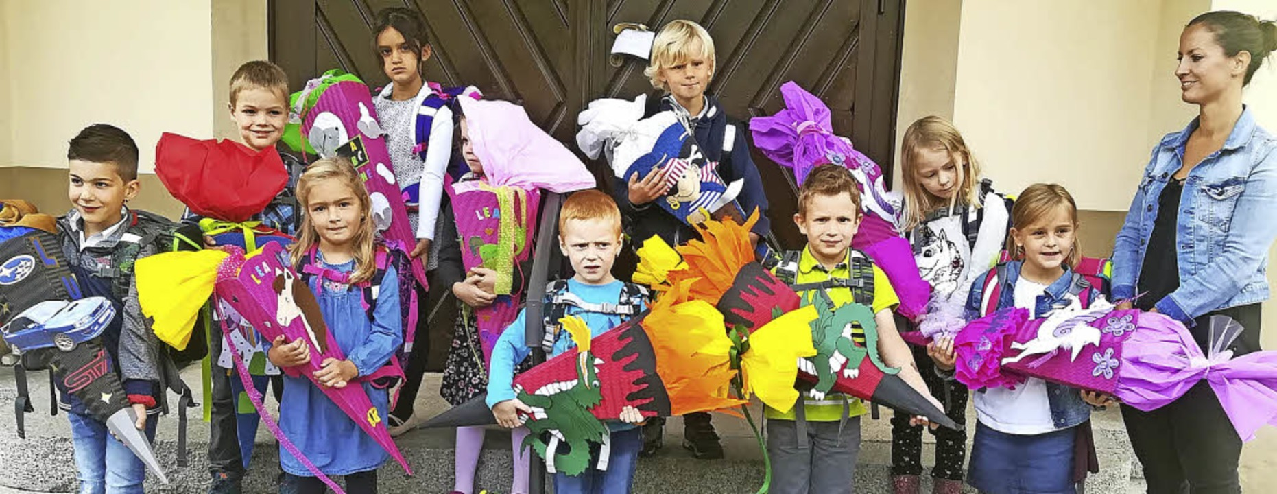 <BZ-FotoAnlauf>Grundschule Wieden-Utze...oßen Tüten ging es in den Unterricht.   | Foto: Schule