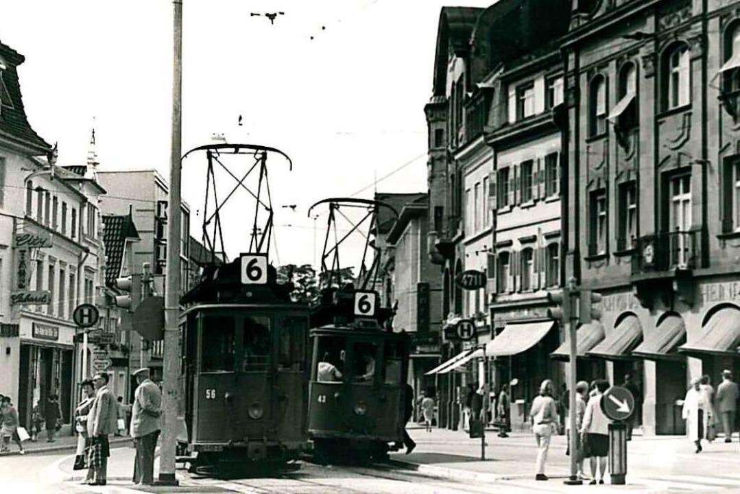 Ein zentrales Thema des Lörrach-Films ...hn, die bis 1967 durch die Stadt fuhr.  | Foto: BZ
