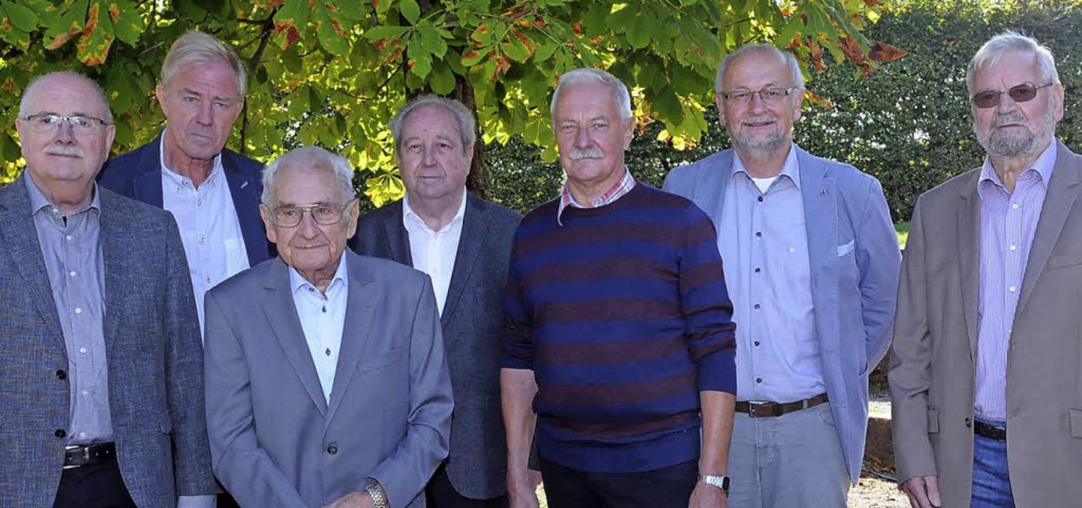Geehrt wurden: (von links) Werner Caro...e, Günter Evermann und Rudolf Holderer  | Foto: WOLFGANG KUENSTLE