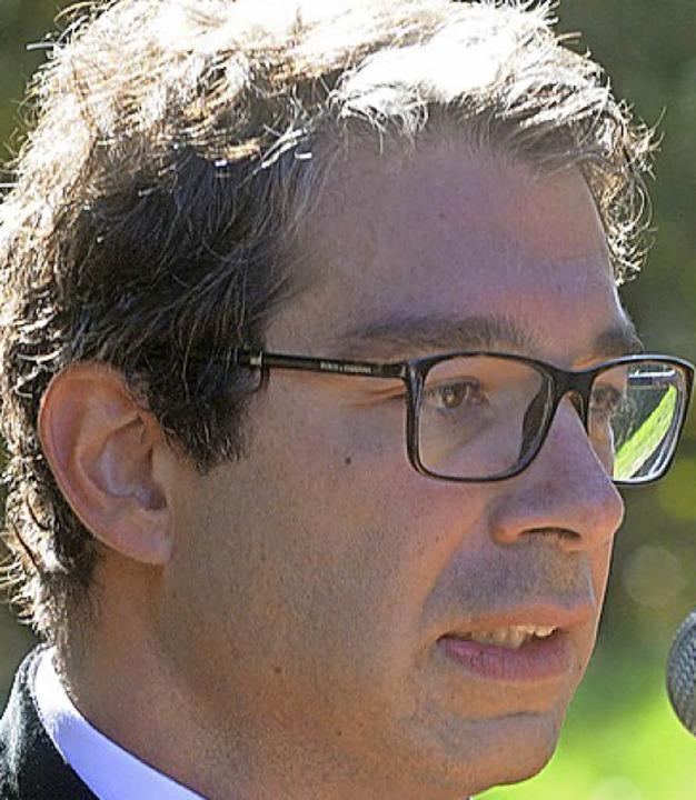 Staatssekretär André Baumann  | Foto: WOLFGANG KUENSTLE