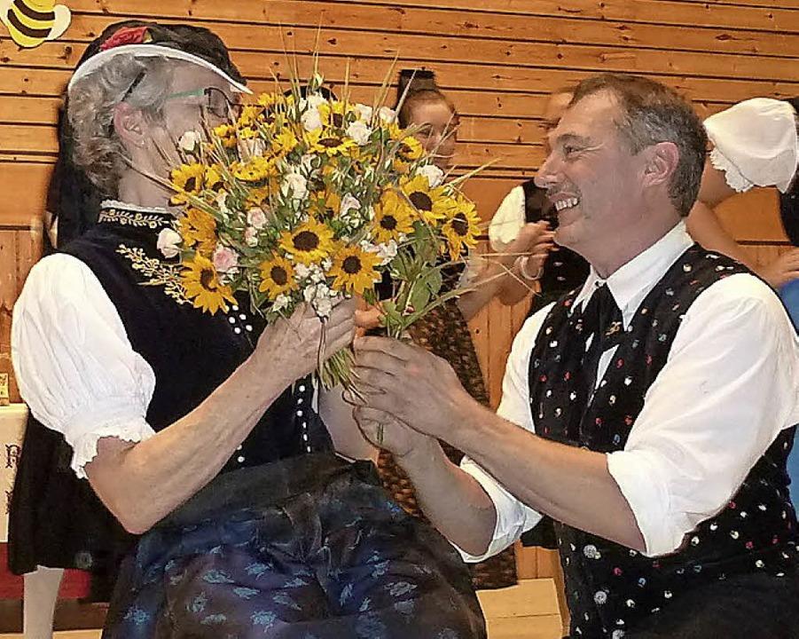 Blumen für Regina Schmid  | Foto: Heidrun Simoneit