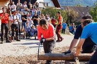 Erstmals nahm eine Frau an der Waldarbeitermeisterschaft in Horben teil