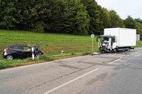 Zwei Schwerverletzte bei Unfall auf der B 316 in Rheinfelden
