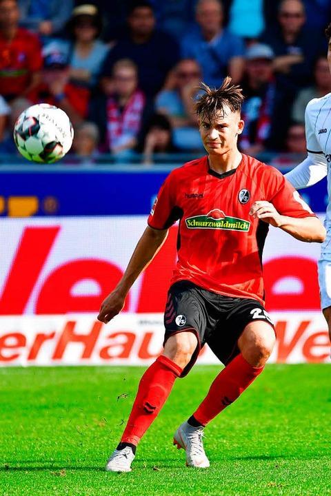 Gerade noch für den SC Freiburg gegen ...tionalmannschaft unterwegs: Robin Koch    Foto: achim keller