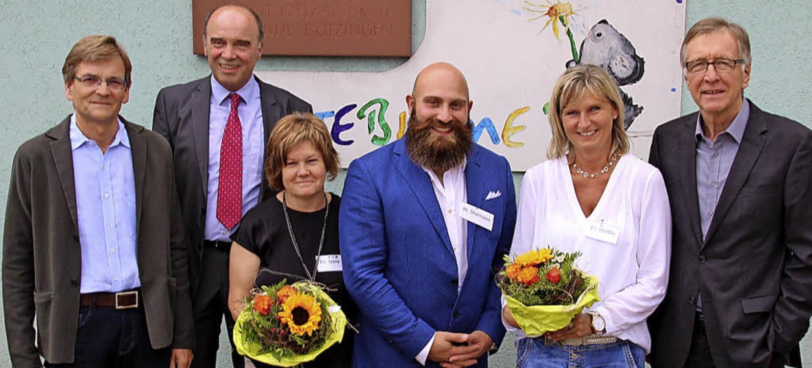 Architekt Gert Märtin, Bürgermeister D...meister  Fritz Konstanzer (von links)   | Foto: David/Schöneberg