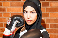 Muslima Zeina Nassar strebt eine Karriere als Boxerin an