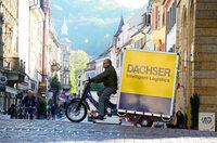Logistikunternehmen Dachser testet ein Lastenrad in Freiburg