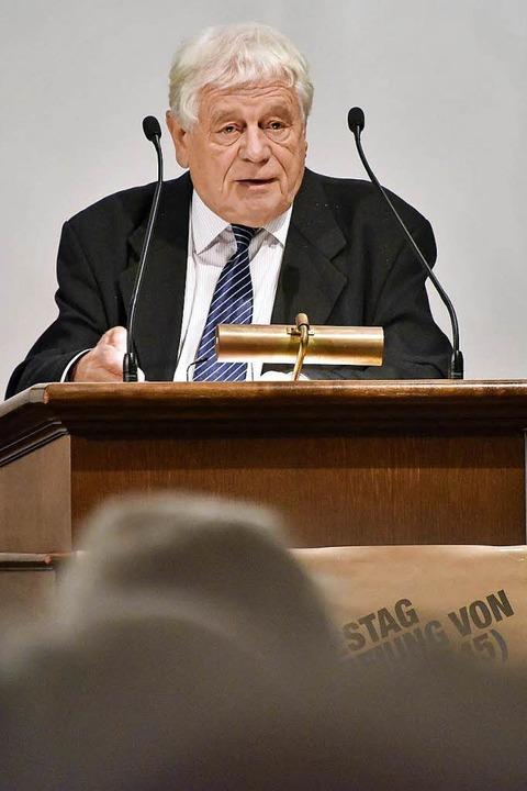 Der Historiker Wolfgang Benz im Januar 2016 in Freiburg   | Foto: Bamberger