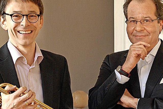 Johannes Sondermann (Trompete) und Johannes Götz (Orgel) spielen in Bad Bellingen